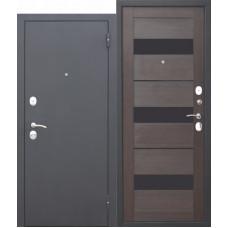 Дверь металлическая  Гарда Муар темный кипарис
