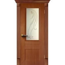 Дверь Елизавета дуб темный  экошпон 2000х900 мм