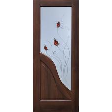 Дверь экошпон Marta T1 Тиковое дерево 2000х600/700/800/9000 мм