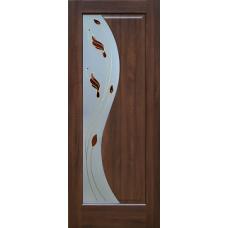 Дверь экошпон Sofia T1 тиковое дерево 2000х600/700/800/9000 мм