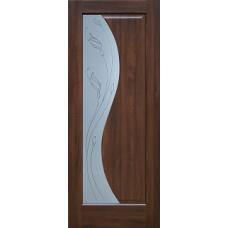 Дверь экошпон Sofia T2 тиковое дерево 2000х600/700/800/9000 мм