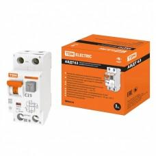 Автоматический выключатель дифференциального тока АВДТ63 2Р С25 30мА TDM