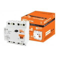 Устройство защитного отключения(УЗО) ВД-63 4P 63A 30мА TDM