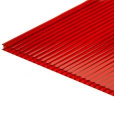 Сотовый поликарбонат красный 12000х2100х4 мм