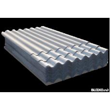 Шифер 7-волновый серый 1750х980 мм
