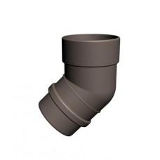Колено трубы пластиковое Ø100 мм 45° шоколад