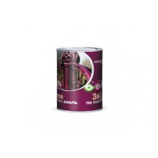 Грунт-эмаль 3 в 1 по ржавчине Farbitex шоколадная 2 кг