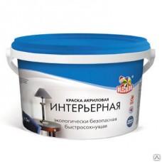 Краска OLECOLOR акриловая интерьерная белая 7 кг
