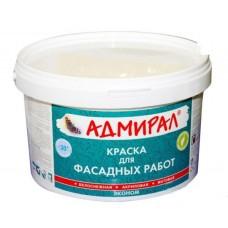 """Краска """"Адмирал"""" фасадная матовая белоснежная 3 кг"""