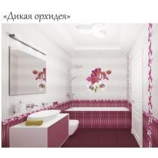 """Панель ПВХ """"Дикая орхидея""""  250х2700 мм с фотодекором(Панно)"""