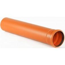 Труба канализационная наружная Ø 110 мм 1,0 м