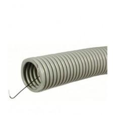Труба ПВХ  Ø25 мм гофрированная с зондом серая