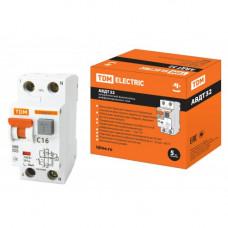 Автоматический выключатель дифференциального тока АВДТ63 2Р С16 30мА TDM