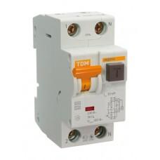 Автоматический выключатель дифференциального тока АВДТ64 2Р С16 30мА TDM