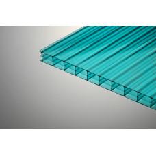 Сотовый поликарбонат бирюзовый 12000х2100х4 мм