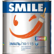 Краска SMILE эмаль ПФ-115 белая 1 кг