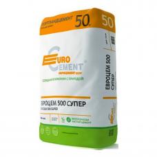 Цемент Евроцемент М500 Д0 (ЦЕМ I 42,5), 25 кг