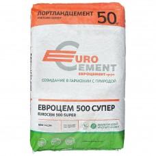 Цемент Евроцемент М500 Д0 (ЦЕМ I 42,5), 50 кг